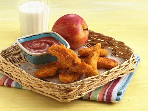 """ultimate chicken fingers"" ~ a betty crocker recipe using bisquick! ~ AND they're baked NOT fried!"