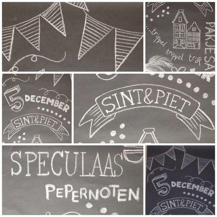 #chalkboard #sinterklaas #banner Pomp5