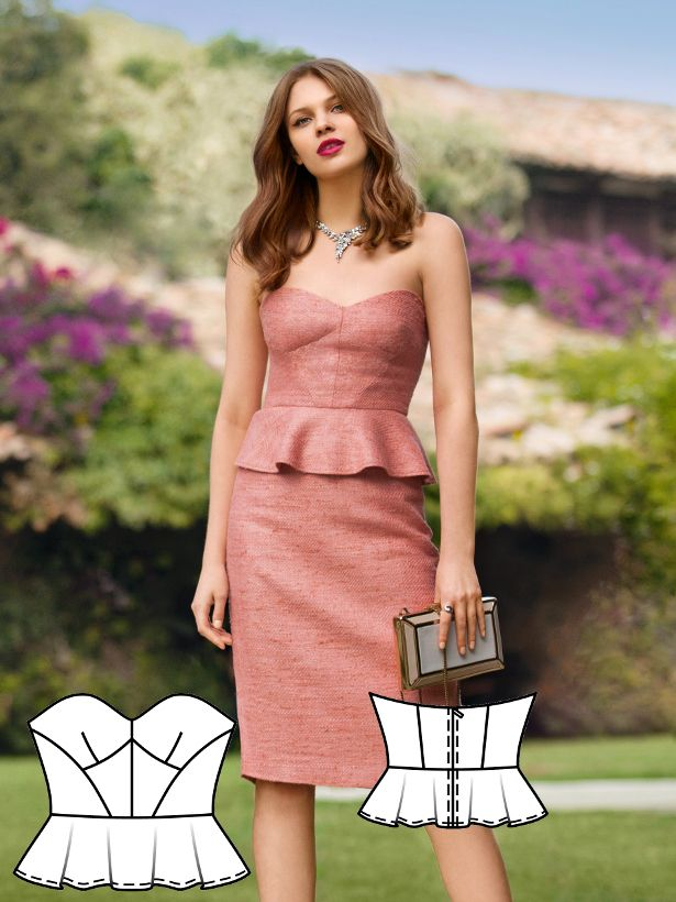 An absolute winner to shape a dream figure. The bustier includes a softly draping peplum. Style it in combination with a straight pencil skirt for the illusion of a dress – though giving it an added flexibility. Add a fashion punch with contrast color pumps!