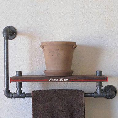 industriële stijl plank boekenkast shelf industriële loodgieterswerk pijp retro naar de oude rack plank handdoek rack-Z39 doen 4252054 2017 – €48.60