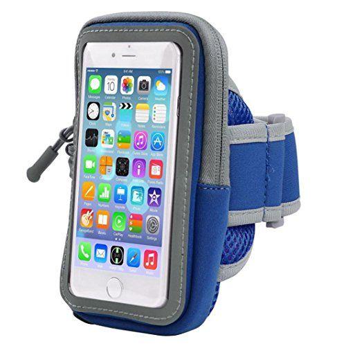 #Arm Bag Hometom Running Sport Gym Armband Holder Case For iphone (Blue 5.5inch)