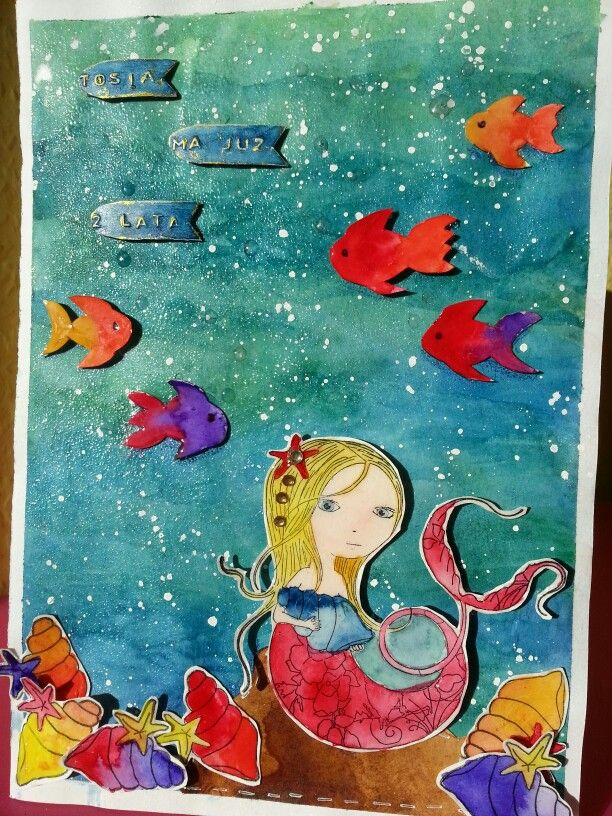 Mermaid, birthdsy card
