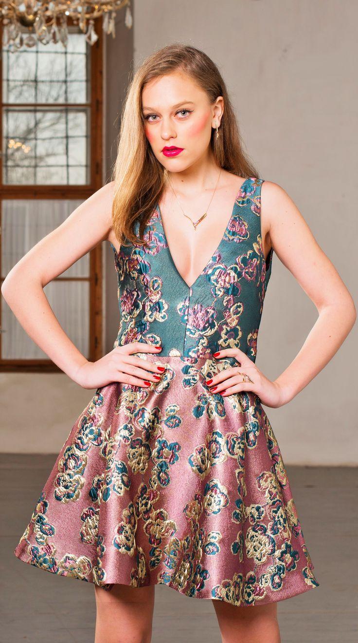 Silk brocade dress by LelkaLor