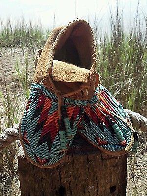 Native American Beaded Moccasins | eBay