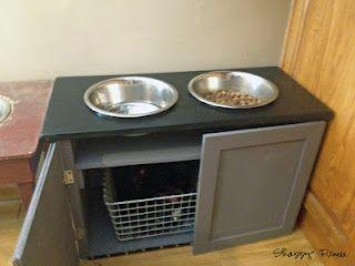 DIY Dog Feeder with storage - idea, little directions