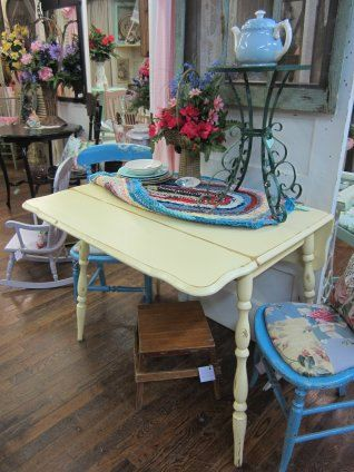 hand painted shabby chic drop leaf kitchen table by - Drop Leaf Kitchen Table