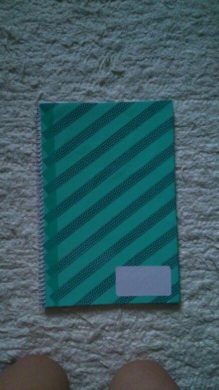 Diy whasi tapes notebook