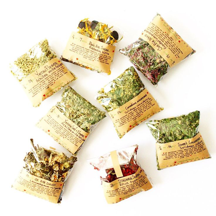 I loved packaging up our dried wild herbs for an order today!