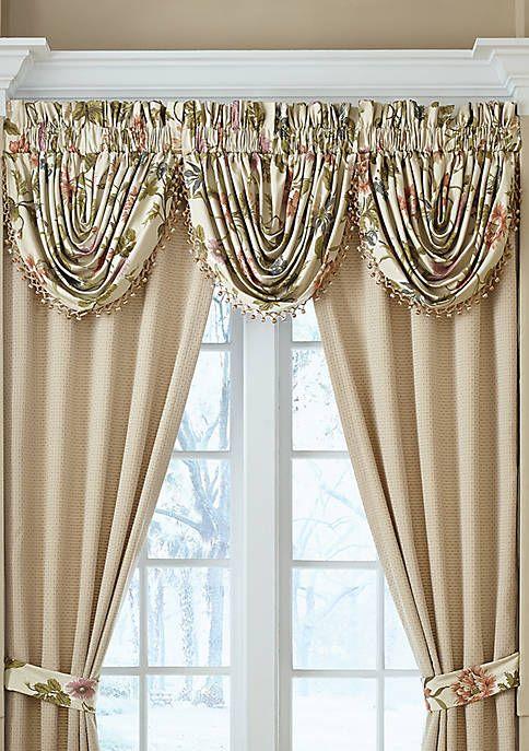 Croscill Daphne Waterfall Swag Valance Window Curtain Designs Valance Victorian Curtains