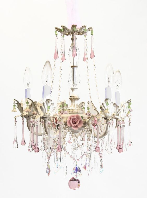 Bella Rose Chandelier Home Amp Garden المنزل و الحديقة Shabby Chic Bedrooms Shabby Chic Homes