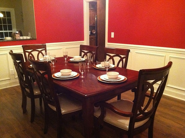 Formal Dining Room Table Needs A Color For Napkins And Placemats And Some  Type Of Centerpiece