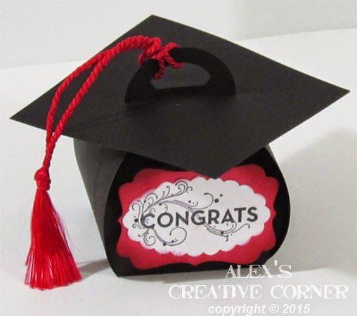 Creativo angolo di Alex: Contenitore di regalo di graduazione