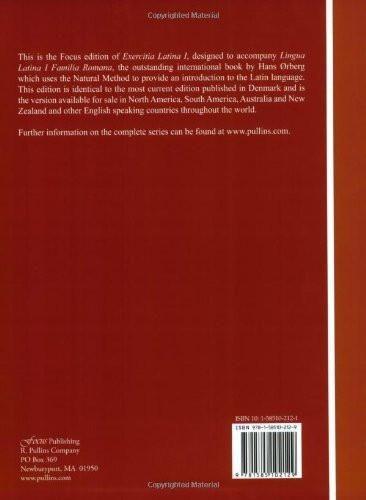 Exercitia Latina I: Exercises for Familia Romana (Lingua Latina) (Pt. 1, No. 1)