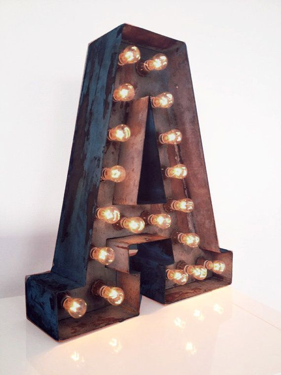 Vintage Style Metal Letter Light up sign by Tissueclouds on Etsy, £300.00