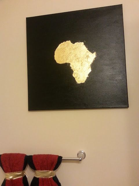 DIY African art with tutorial.