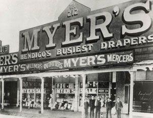 The first Myer store opened in Bendigo, Victoria, Australia
