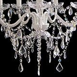 Complete Set of Glass Crystals for 5 Arm Chandelier