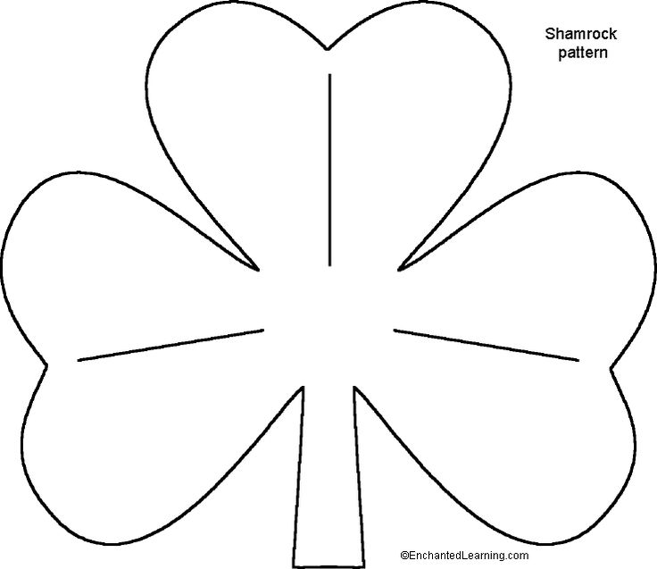 St. Patrick's Day Shamrock Templates for Crafts - Enchanted Learning Software