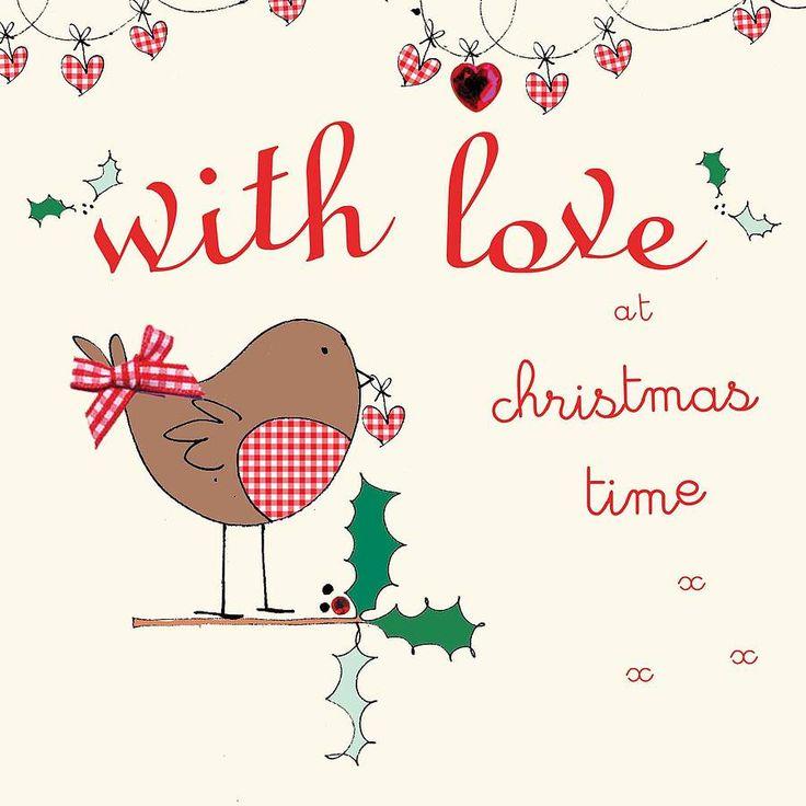 handmade with love christmas card by laura sherratt designs | notonthehighstreet.com