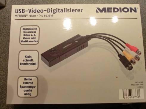der kleine neue Kleinanzeigenmarkt  USB Video Digitalisierer Medion