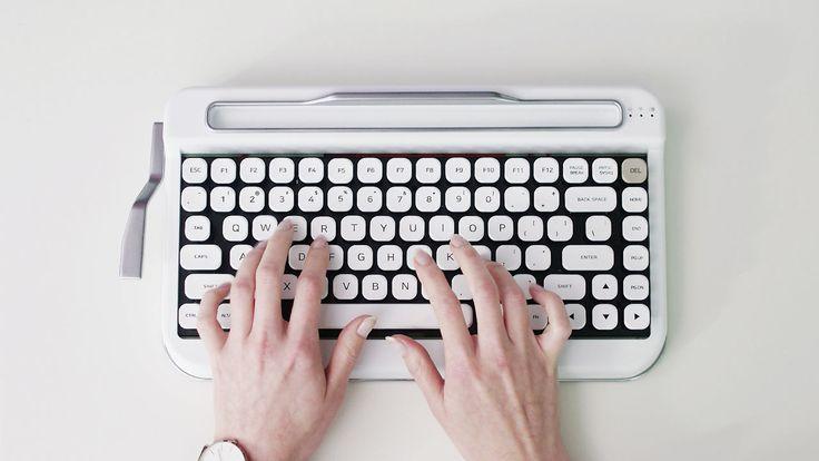 PENNA: A Vintage Typewriter-Inspired Bluetooth Keyboard - Design Milk