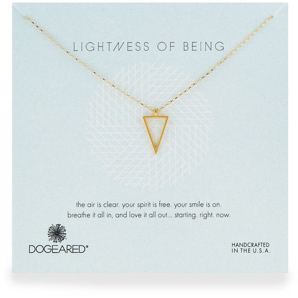 Dogeared Air Triangle Gold-Dipped Pendant Necklace ($39) ❤ liked on Polyvore featuring jewelry, necklaces, fillers, gold, 14 karat gold necklace, triangle necklace, 14k necklace, pendant jewelry and handcrafted necklaces