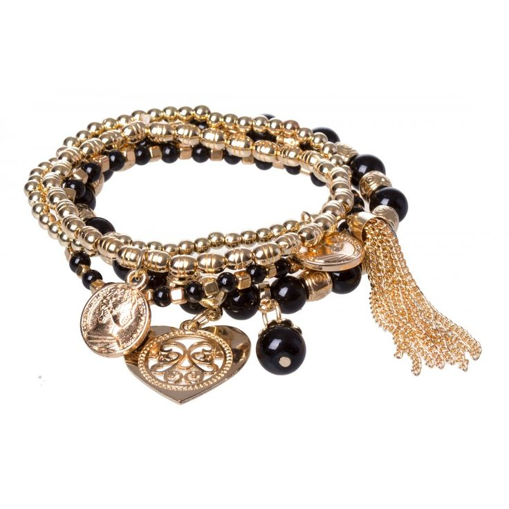 Bead And Charm Wristwear Pack in BLACK #16960 - colette by colette hayman
