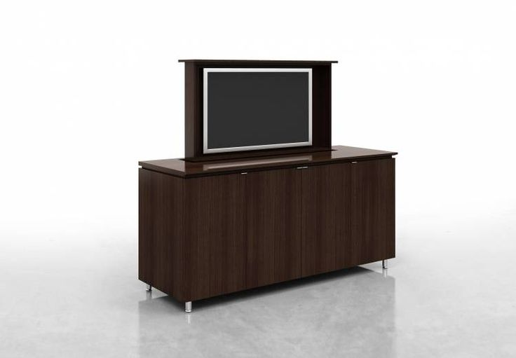 Custom Credenza With Plasma Screen Lift By Nucraft