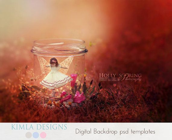 Digital Backdrop Little Fairy psd template