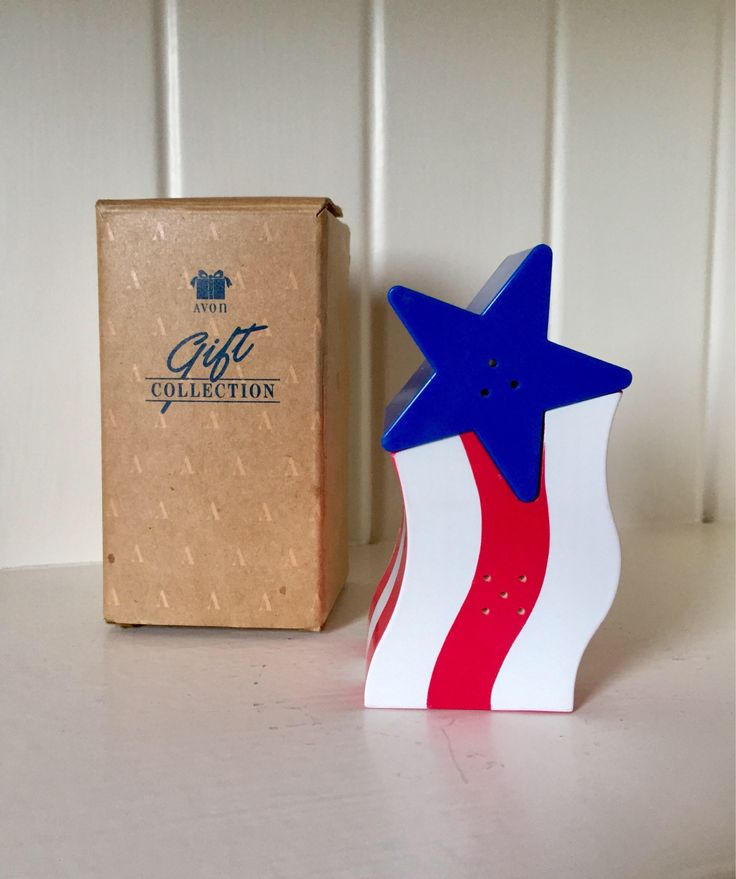 A personal favorite from my Etsy shop https://www.etsy.com/listing/539679349/free-shipping-retro-avon-patriotic-stars