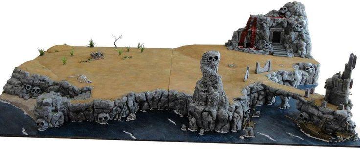 Tavolo da gioco - L'isola del Sangue (per Eserciti Warhammer Fantasy - Dimensioni cm 200x120)