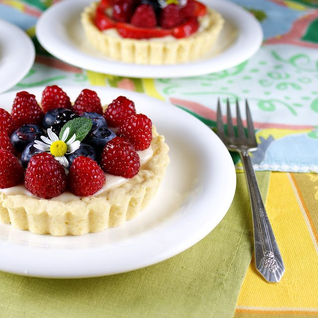 These tartlets are too pretty to eat!   Mixed Berry Tartlets Lightened up with Tillamook Light Fat Free Lemon Squeeze Yogurt @Patty Price / Patty's Food