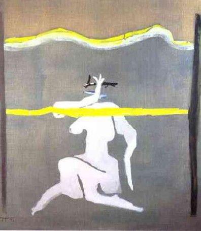 Horyzonty, 1992 temper + akryl, płótno, 150x135cm