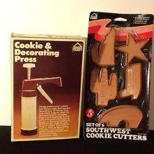 Vintage HOAN Cookie & Decorating Press & Vintage Southwestern Cookie Cutters