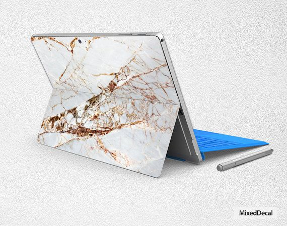 Surface Pro 4 sticker Marble Microsoft Surface back by MixedDecal