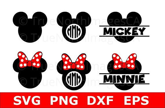 Mickey Monogram SVG / Mickey Mouse Clipart / Mikey Vector / Mickey Mouse SVG / Minnie Mouse SVG / Mickey Clipart / Mickey Head svg
