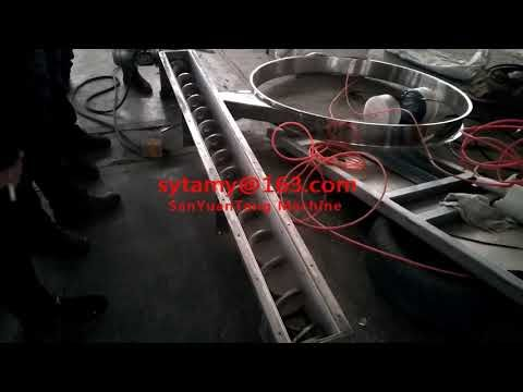 Shaftless screw spiral conveyor, auger feeder from