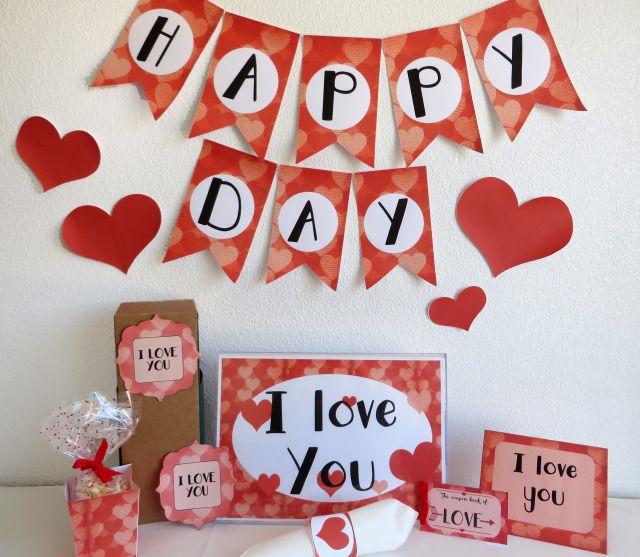 kit imprimible san valentin, regalos san valentin. ideas san valentin