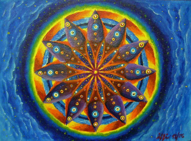 """The Planet Horus""/""Planeta Horus"" Canvas for paiting, Acryl Colours, 29x21 cm  Malířské plátno, Akrylové barvy, 29x21 cm"