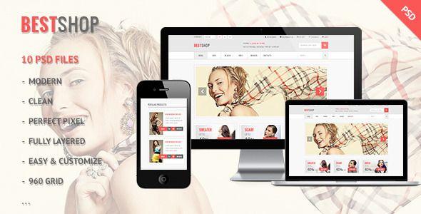 Bestshop - Retail, Shopping, eCommerce PSD