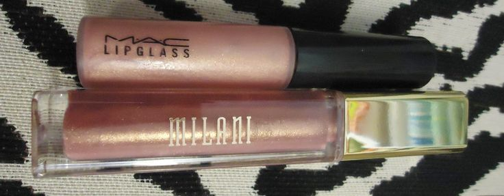 One Thrifty Space: MAC Nymphette Lipglass Dupe- Milani Brilliant Shine Lip Gloss in the shade Luminous