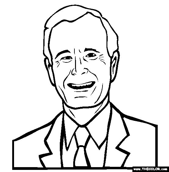 george h w bush online coloring page