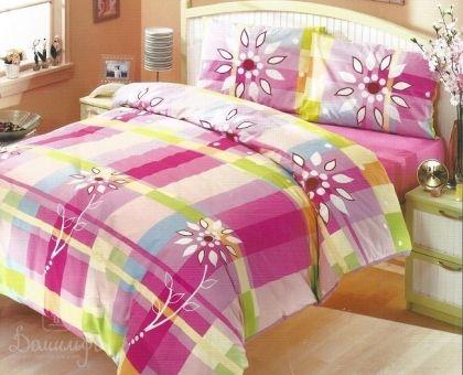 Купить постельное белье ALTINBASAK HARMONY розовое 70х70 1,5-сп от производителя Altinbasak (Турция)