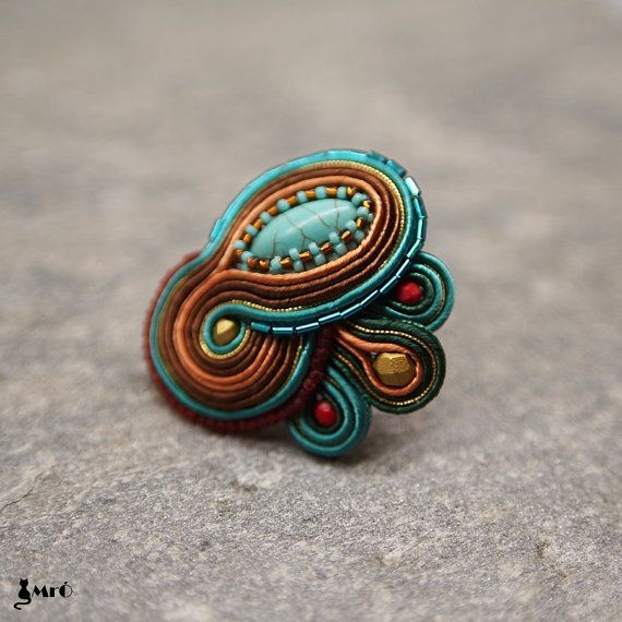 Amiya+Baeutiful+Etnic+Soutache+Ring++by+MrOsOutache+on+Etsy,+$35.00