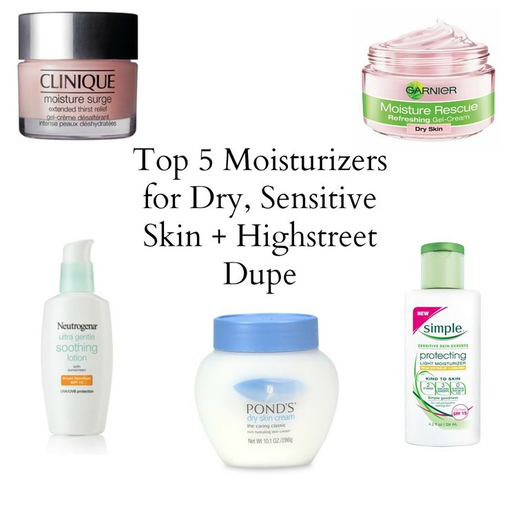 Top 5 Moisturizers for Dry, Sensitive Skin + Highstreet Dupe - Sarah Smile