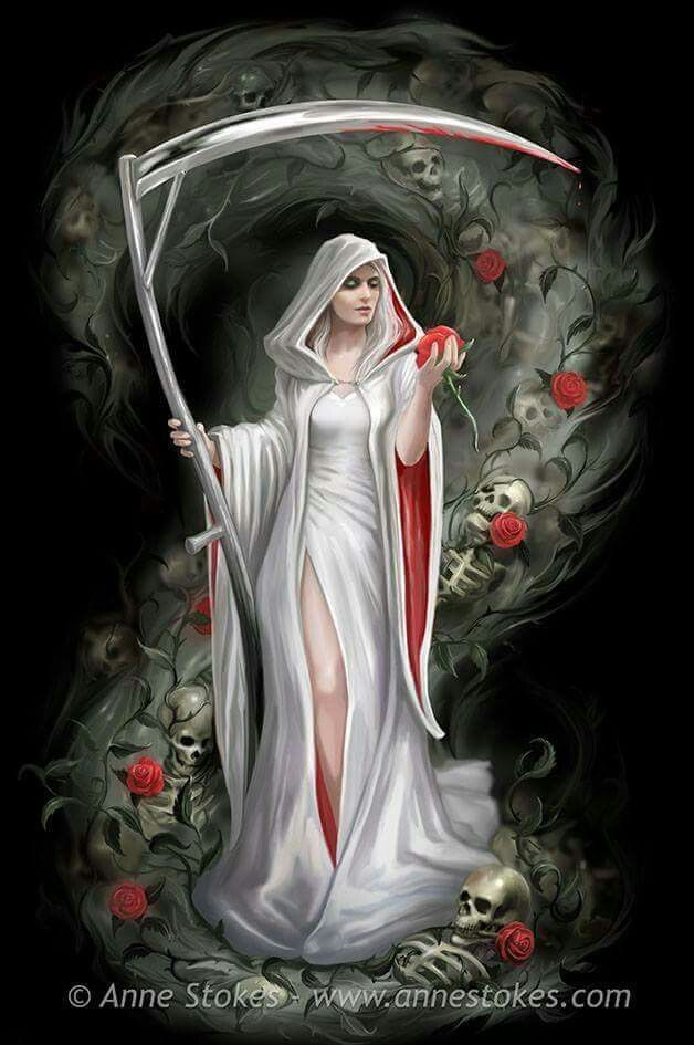 "Art work by Anne Stokes. Here, in the gothic art count down, is a picture called ""Life Blood"", that I painted earlier this year."