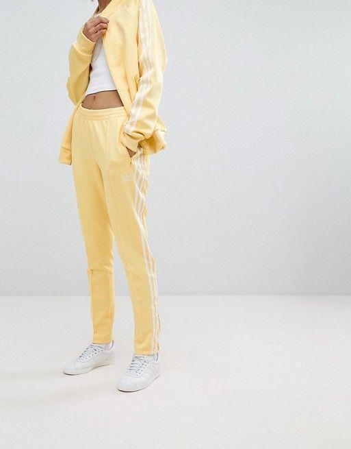 fa2ad734 adidas Originals adicolor Three Stripe Track Pants In Yellow in 2019 ...