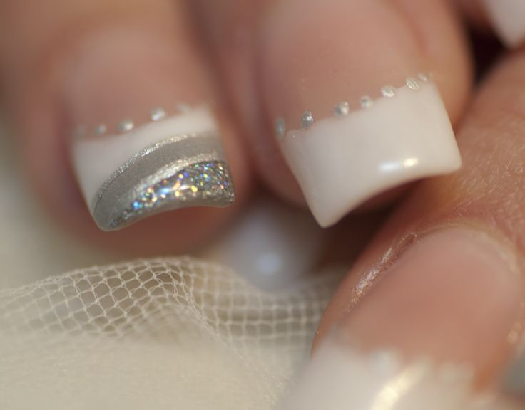 Decoración de uñas de acrilico para novias - Imagui