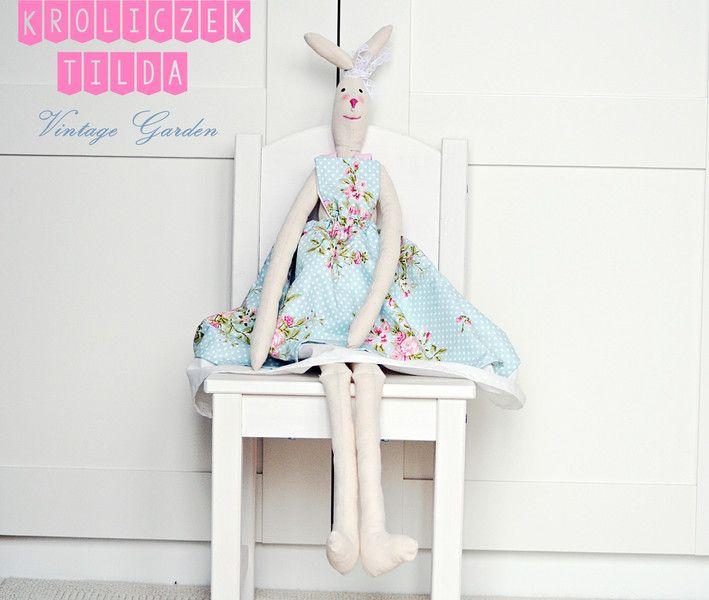Krolik+tilda+Tilda+bunny+na+wielkanoc+w+Vintage+Garden+-+ręcznie+szyte+niepowtarzalne+lalki+na+DaWanda.com