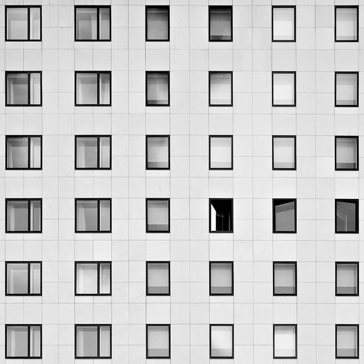 Memory  /  Lyon  /  Photo: © Thomas Perréon  #architecture #lyon #thomas #perreon #minimalism #bw #composition #contemporary #symmetry #graphism
